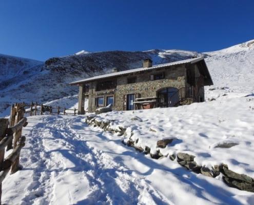 Neve al rifugio Fontana Mura